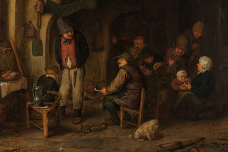 "Adrian van Ostade: ""The Skaters': Peasants in an Interior"""