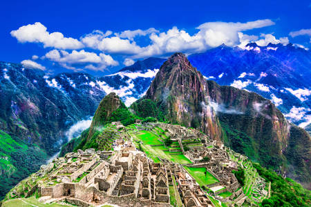 The ancient city of Machu Picchu