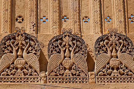 Stone carving in the Mandir palace
