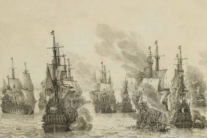 "Willem van de Velde Senior: ""The Battle of Livorno"""