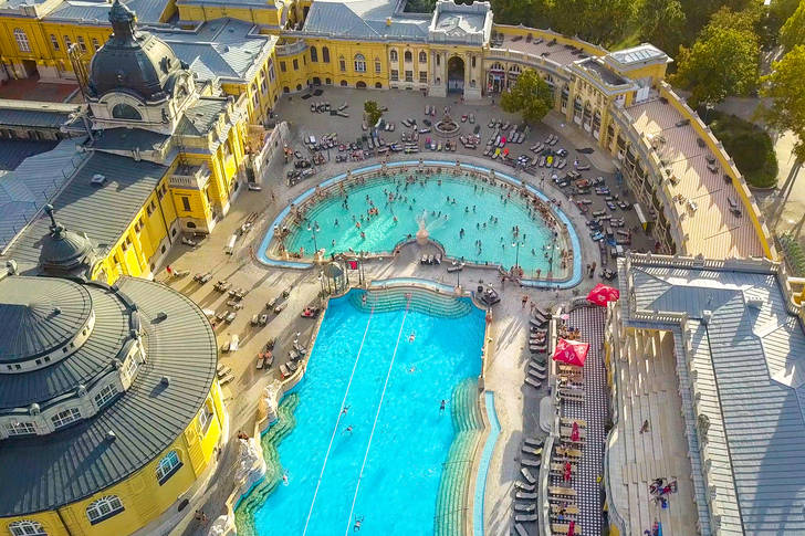 Aerial photography of the Szechenyi Bath