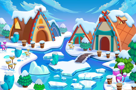 Fairy winter village