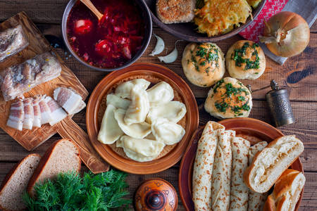 Traditional Ukrainian cuisine