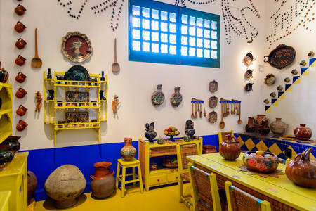Kitchen at the Frida Kahlo Museum