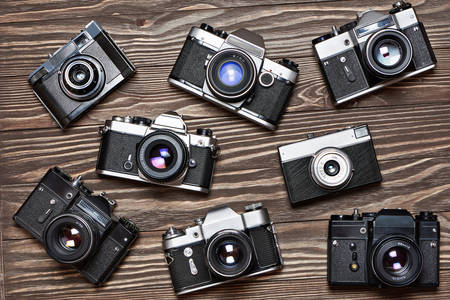 Collection of retro cameras