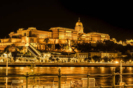 Night view of Buda Castle