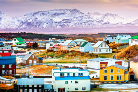 Colorful Icelandic houses