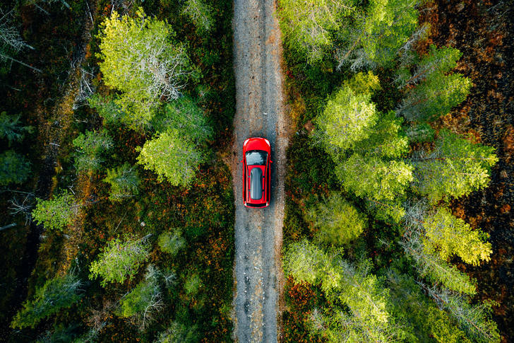 Red car on the road Jigsaw Puzzle (Countries, Finland ...
