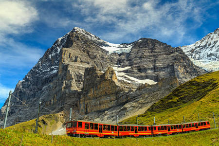 Train in Kleine Scheidegg