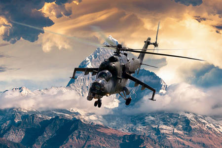 Military helicopter