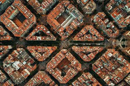 A bird's eye view of Barcelona architecture