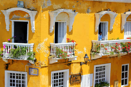 Balconies of Cartagena