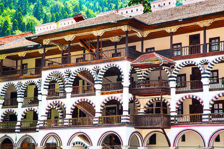 Details of the architecture of the Rila monastery