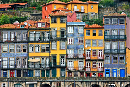 Facades of houses in Ribeira