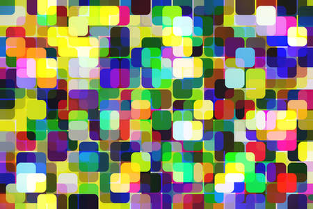 3D Abstraction: Colored squares