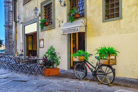Cafe on the streets of Florence