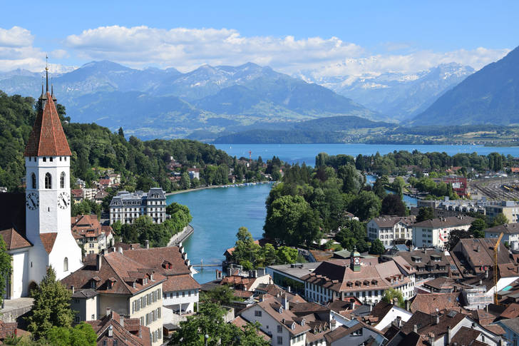 Thun town and Thun castle