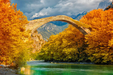 Old bridge in Konitsa over the Aoos river