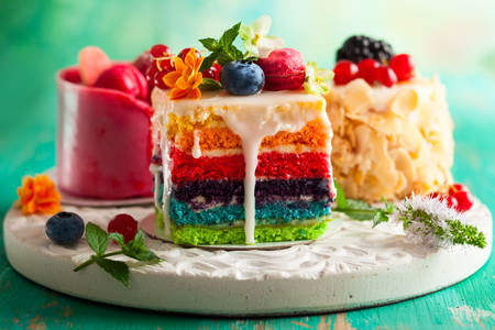 Multicolored cakes