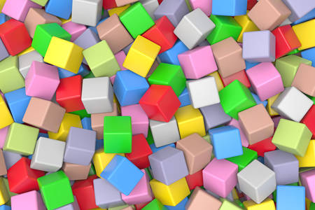 3D abstraction: colored cubes