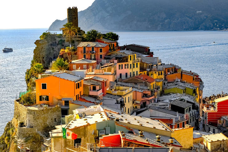 The architecture of the town of Vernazza