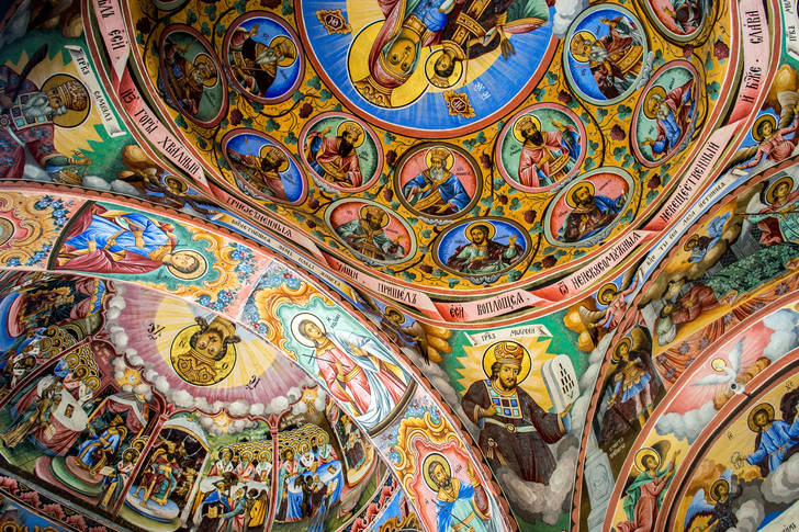 Wall painting of the Rila Monastery