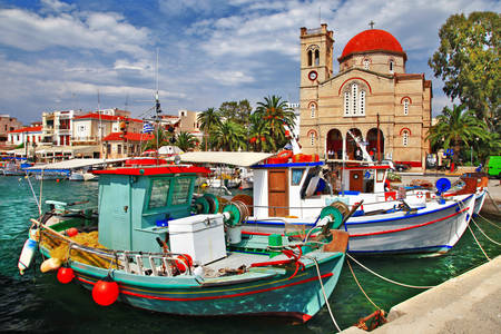 Boats on the island of Aegina