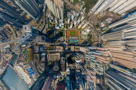 Top view of Kowloon Bay