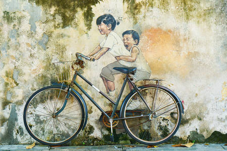 Bicycle and children