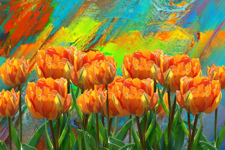 Abstraction with tulips