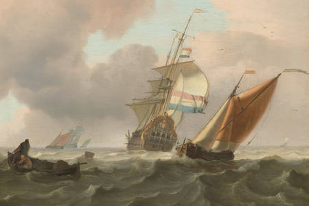 "Ludolf Bakhuysen: ""Rough Sea with Ships"""