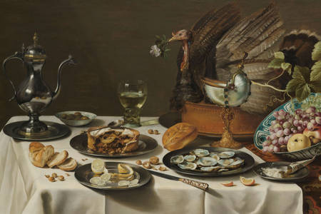 "Pieter Claesz: ""Still Life with a Turkey Pie"""