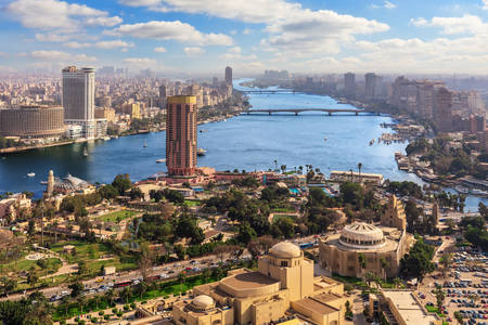Nile and downtown Cairo