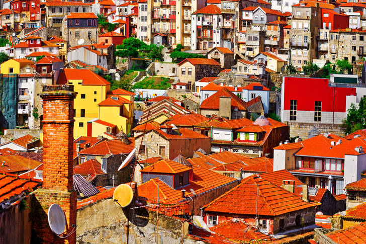 Roofs of the city of Porto