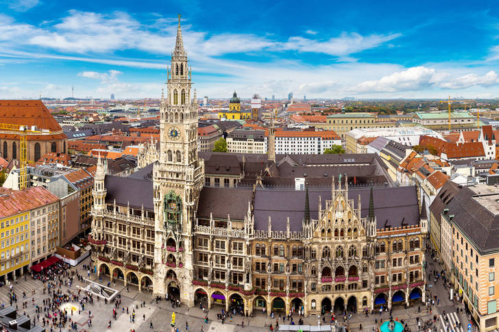 View of the New Town Hall in Munich