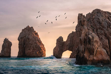 Natural arch of Cabo San Lucas