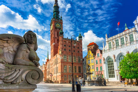 Beautiful architecture in Gdansk