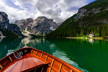 Lake Braies view