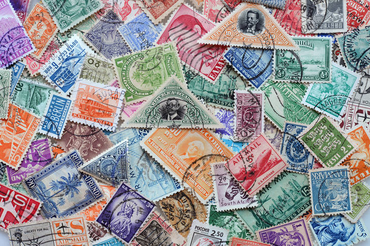 Postage stamps of different countries