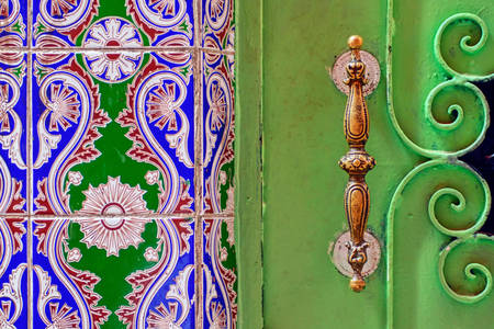 Doors with Moroccan designs