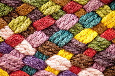 Multicolored wool yarns