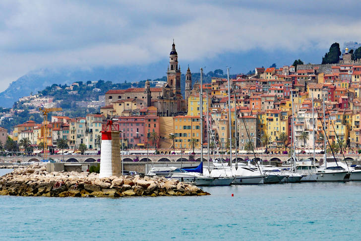 Menton - a town on the edge of the Riviera