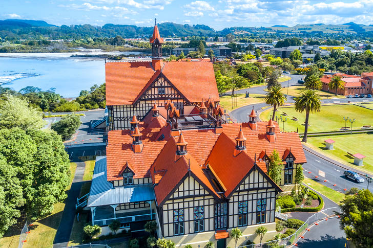 Rotorua Museum from above