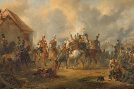 "Nicolaas Pieneman: ""The Battle of Bautersem during the Ten Days' Campaign"""