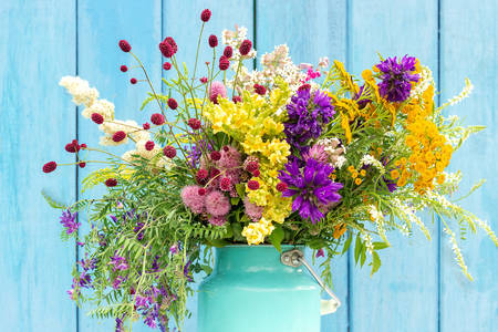 Bright bouquet of wildflowers