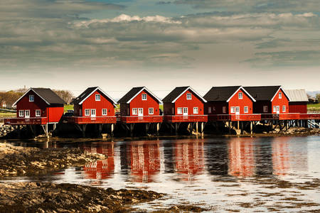 Norwegian houses on the water