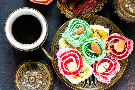 Coffee and oriental sweets