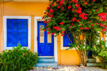 Colorful houses of Greece