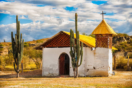 Church in the Tatacoa desert