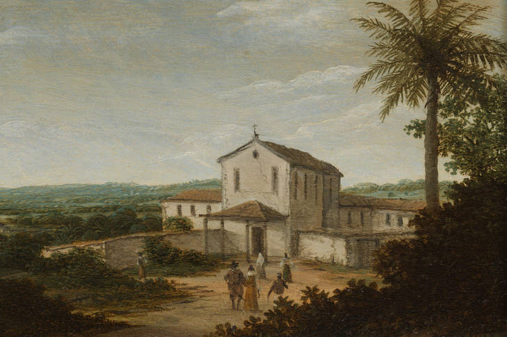 "Frans Jansz Post: ""Church Building in Brazil"""